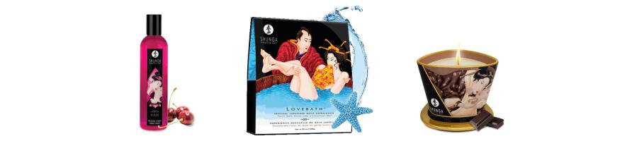Bain relaxant et bougies de massage